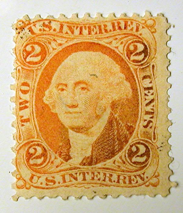 Us Revenue Stamp R15c 1862 71 2 Cent Internal Revenue